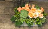 A Great Thank You Soft Pastel Roses Arranged