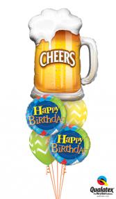 A Happy Birthday Toast Balloons