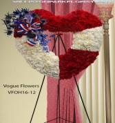 Heart Of A Patriot Funeral Sympathy Hearts