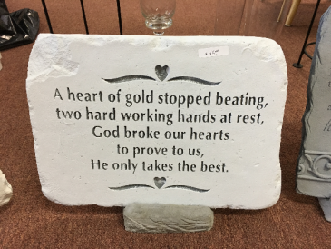 A Heart of Gold Memorial Stone