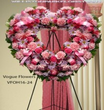 A Heart Of Love Pink Funeral Sympathy Hearts