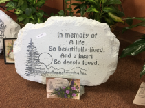 A Heart so Deeply Loved Memorial Stone