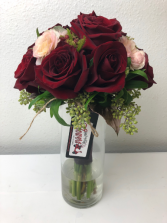 A Jewel of Red   Bridal or Brides Maid Bouquet