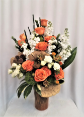 A kiss of Peach Sympathy Arrangement