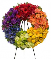 A Life Lived Colorfully Funeral, Memorial Flowers