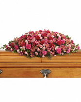 A Life Loved Casket Spary Funeral