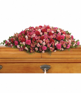 A Life Loved Casket Spray Sympathy