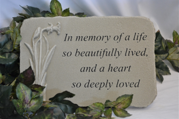 A LIFE SO BEAUTIFULLY LIVED - STONE SYMPATHY STONE