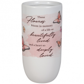 A life so Beautifully lived vase