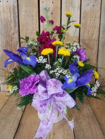 A little bit of sweetness Basket arrangement