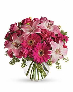 A little pink me up Fresh Arrangement in Schenectady, NY | Flowers by Jo-Ann