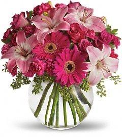 A Little Pink me up fresh arrangement