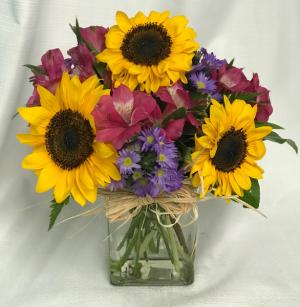 A LITTLE SUNSHINE BOUQUET SEPTEMBER SPECIAL in Lewiston, ME   BLAIS FLOWERS & GARDEN CENTER