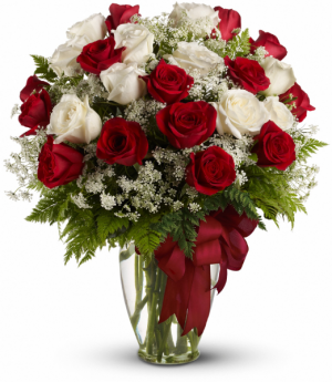 To The Moon And Back! Two Dozen Rose Arrangement in Tulsa, OK | THE WILD ORCHID FLORIST
