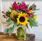 The Clara Bouquet Mason Jar