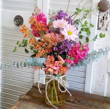 The Fauna Bouquet Mason Jar