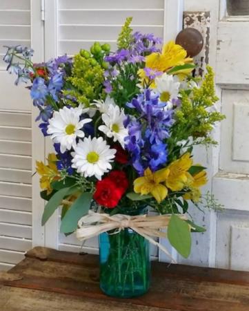 The Merryweather Bouquet Mason Jar