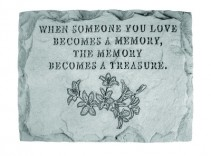 A Memory is a Treasure Memorial Stone