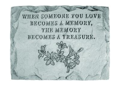 A Memory is a Treasure Memorial Stone
