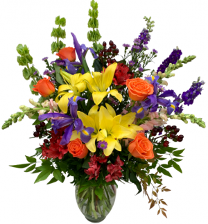 Garden of Love Vase Arrangement in Seguin, TX | DIETZ FLOWER SHOP & TUXEDO RENTAL