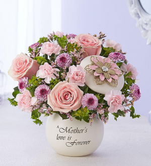 A Mother's Love is Forever In Keepsake Lidded Bowl in Gainesville, FL | PRANGE'S FLORIST