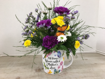 A Mother's Love Mug Fresh Arrangement