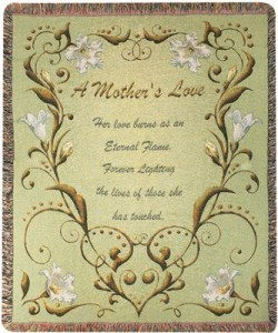 A Mother's Love Woven Throw in Springfield, IL | FLOWERS BY MARY LOU INC