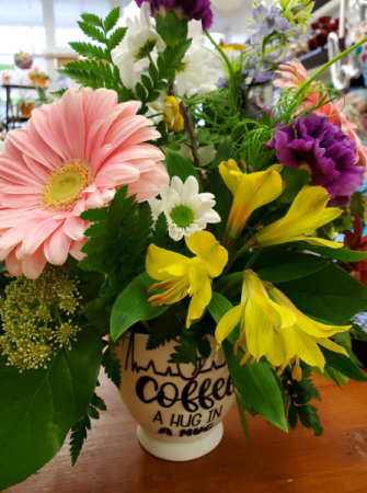 A Mug Full of Blooms Arrangement