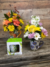 A Mug of Cheer Flowers in a mug