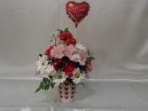 A Mug of Hearts Arrangement