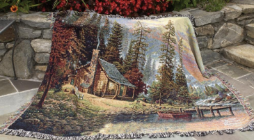 A Peaceful Retreat Woven Throw