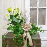 Blooming Birch Basket  Plant Basket