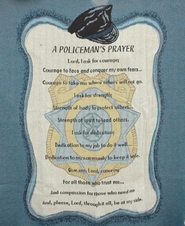 A Policeman's Prayer Blanket/Throw