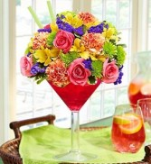 Martini Sangria Bouquet 1800 flowers Martini Bouquet