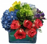 A Rainbow of Colors Cut Flower Arrangement