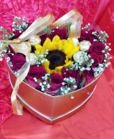 A ray of Sunshine  Sunflower ROSES & chocolates