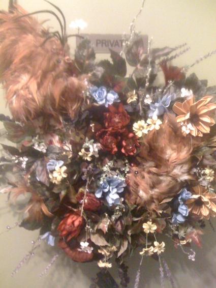 A Rooster Lovers Wreath By Perrine Custom Silks In Universal City