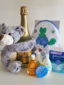 A STAR IS BORN Baby basket PLUS sparkling wine for mom and dad
