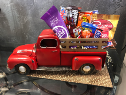 A Tailgate of Goodies  Red Truck