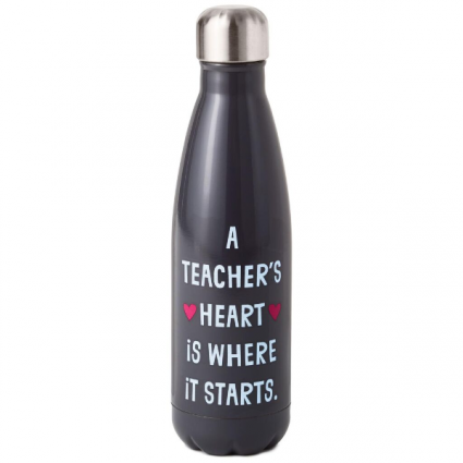 A Teacher's Heart Stainless Steel Water Bottle, 17 Hallmark