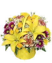 A Tisket A Tasket Sunny Flower Basket