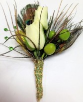 A Touch O' Green Bout Boutonniere