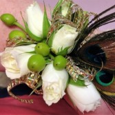 A Touch O' Green Wrist Corsage