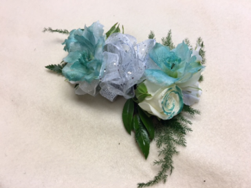 A Touch of Color Wrist Corsage
