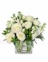 A Touch of Elegance White Flower Arrangement
