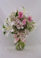 A Touch of Pink Vase Arrangement