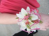 Wrist Corsage-Touch of Pink Custom Designed Wrist Corsage. Please call for pricing.