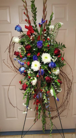 A twig of honor  Standing Spray in Roanoke, VA | Flowers By Eddie