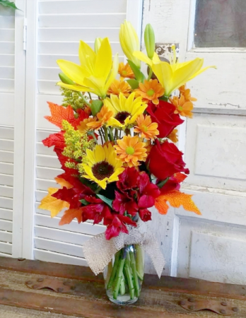 Festive Fall Vase Arrangement