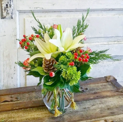 Winter Wishes Vase Arrangement